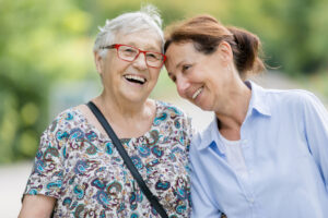 aged care discussion with parents